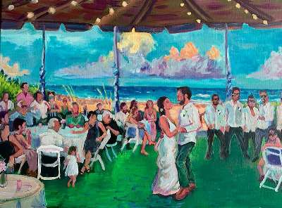 Peindre votre mariage : un souvenir tendance !