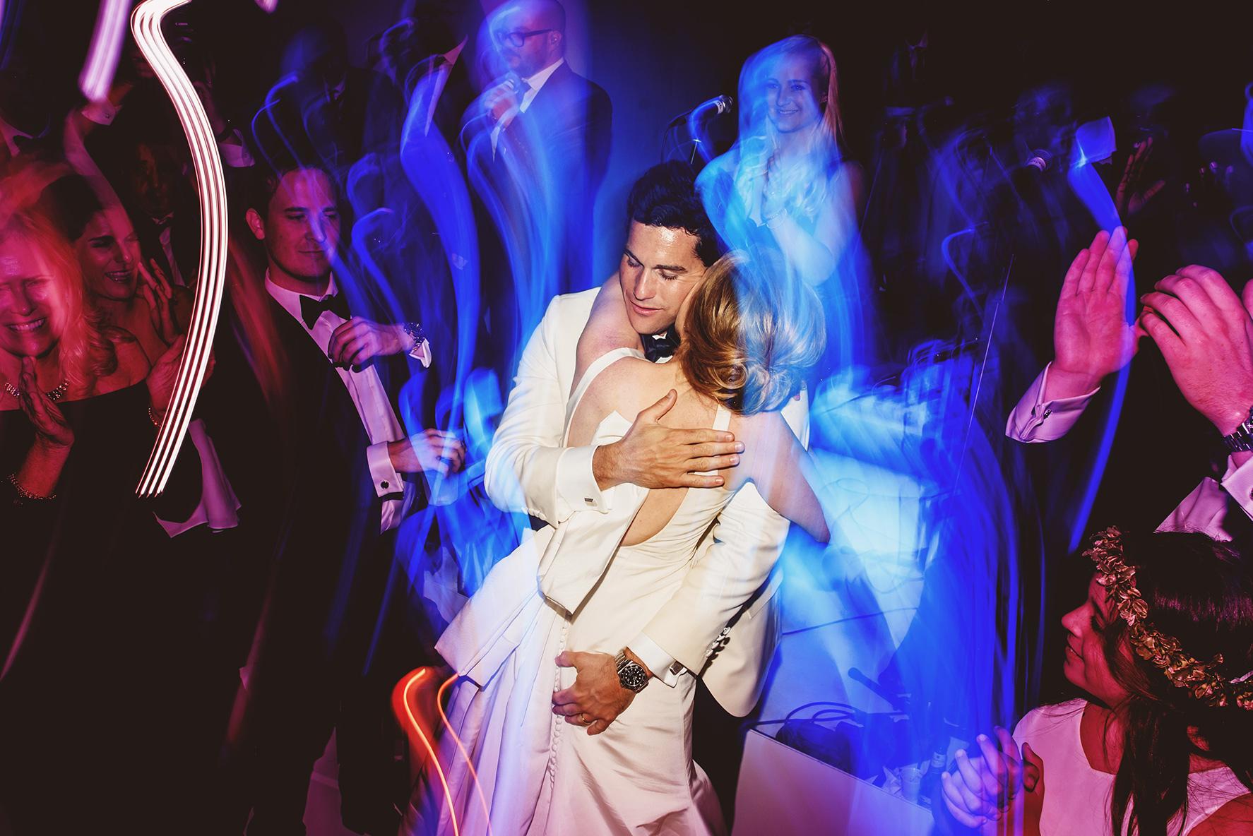 Flash créatif photographie de mariage