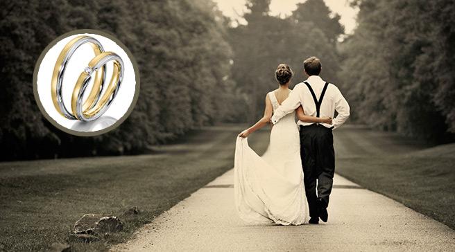 alliances et mariés