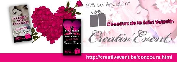 Gagnez 50% de réduction sur votre organisation Creativ'Event!
