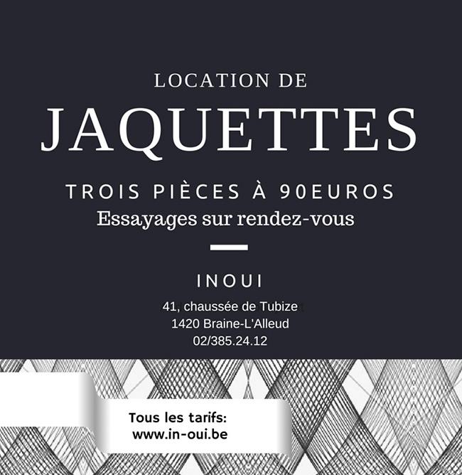 location de jaquettes - inOUI hommes
