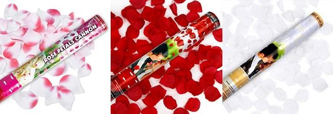 action 10 sur les canons confettis pour mariage - Canon Petale De Rose Mariage