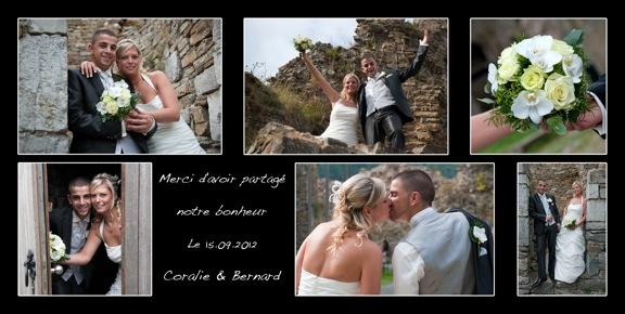 votre reportage mariage en vous remerciant - Formule Remerciement Mariage