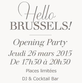Nouvelle boutique à Bruxelles