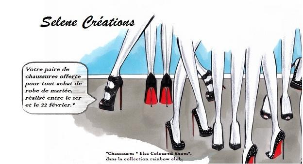 Trouvez la chaussure à votre pied avec votre robe de mariée, chez Selene Creation