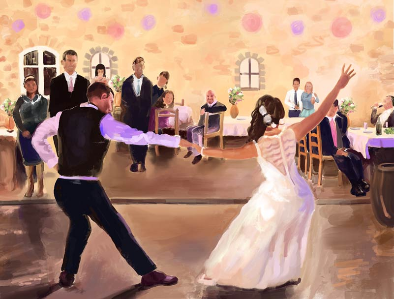 Peindre votre mariage