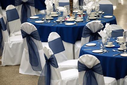 Décoration de la table pour un mariage