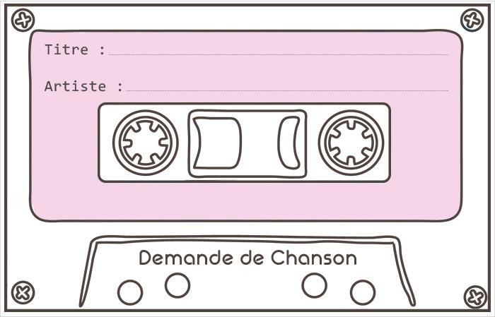 Carte Chanson dédicace