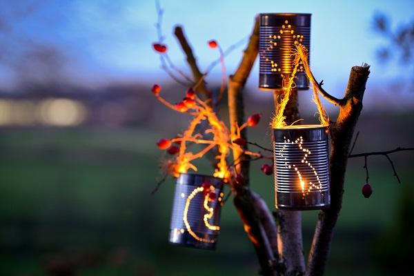 Bote de conserve transforme en lanterne diy mariage - Comment ouvrir une boite de conserve ...