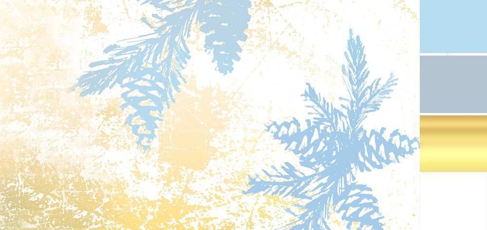 Mariage bleu et or