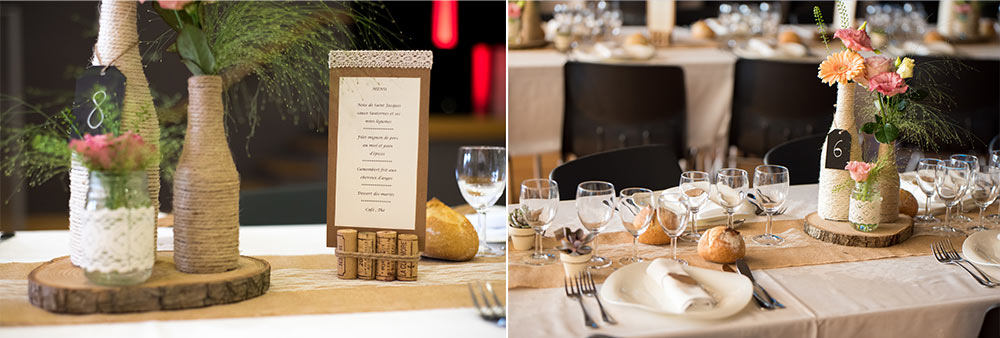 Table mariage champ�tre