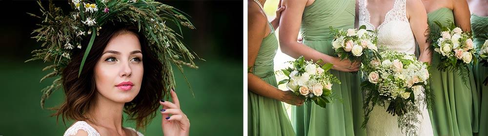 Tenues mariage thème nature