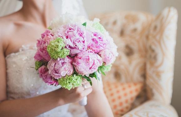 Le bouquet de la mariée : Hortensia