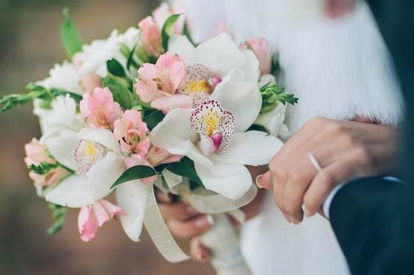 Le bouquet de la mariée : Orchidée