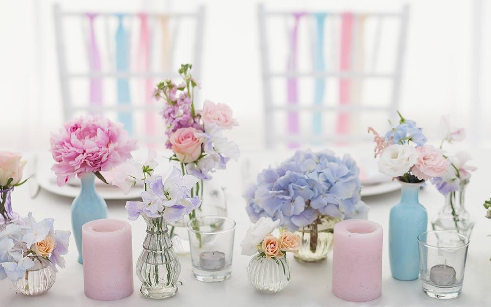 Décoration de tables de mariage