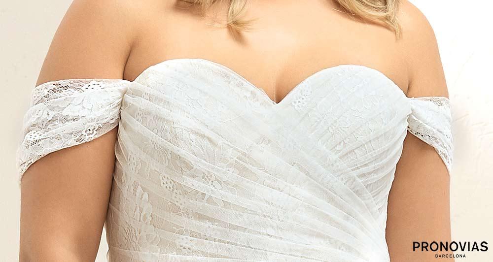 Manches sur robe de mariée grande taille