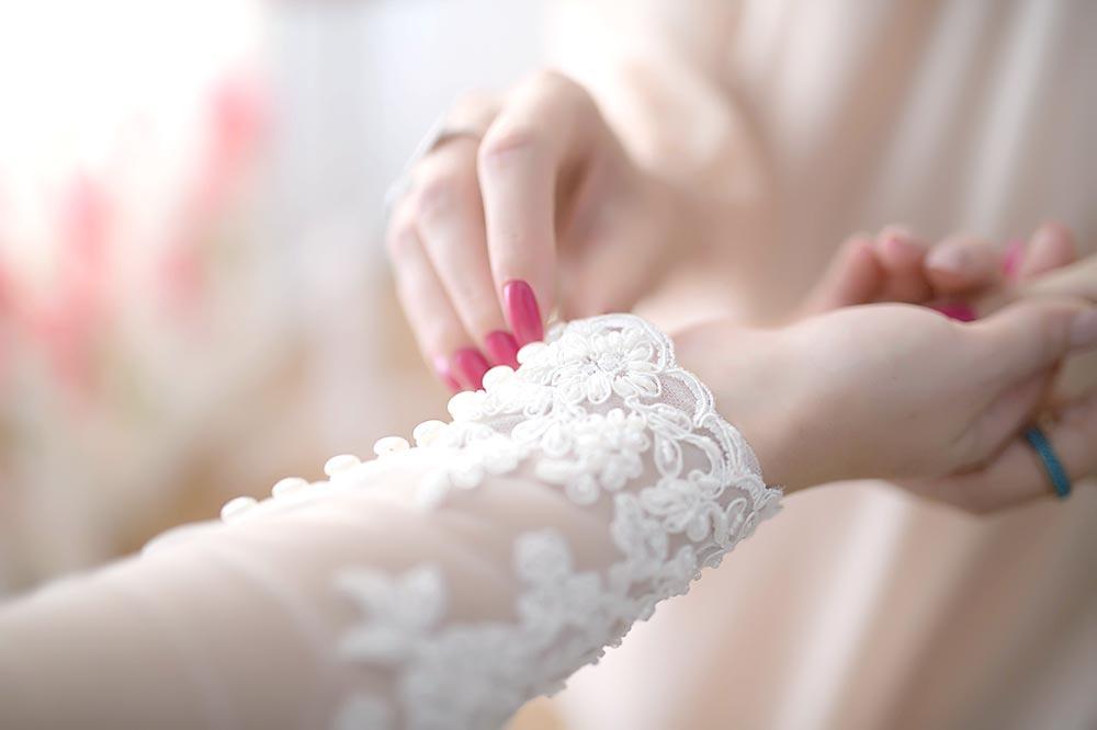 Manche de robe de mariée