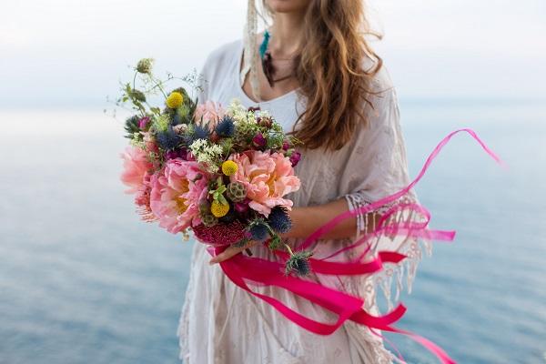 Ruban de mariée, ruban bouquet de mariée