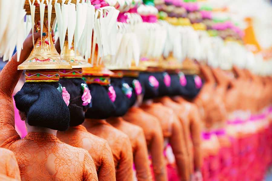 Offrande aux dieu à Bali