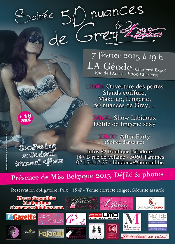 Soiree 50 nuances de grey by libidoux charleroi le for Chambre 50 nuances de grey