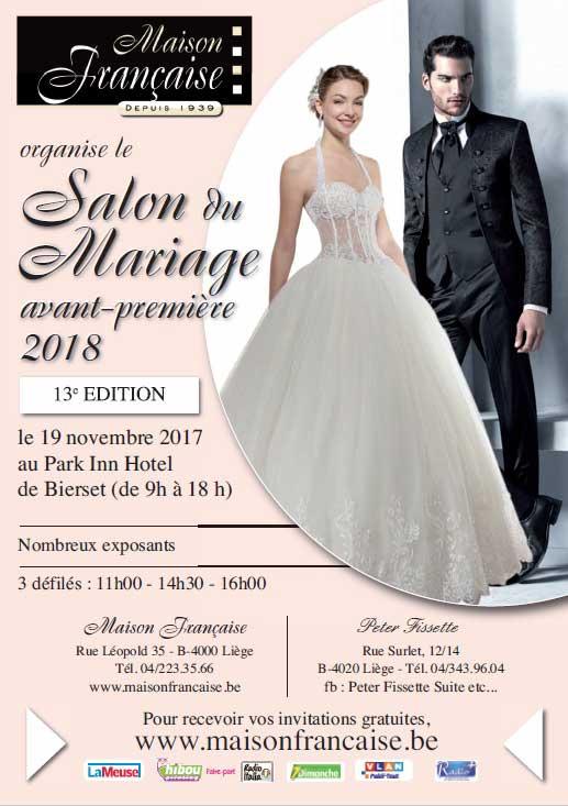 salon 'avant premiere mariage collection 2018' de liège