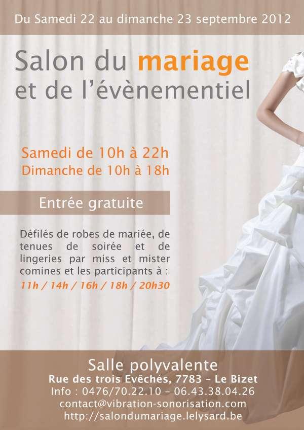Le salon du mariage le bizet le bizet samedi 22 et for Salon du mariage cherbourg