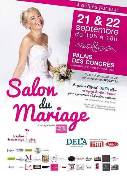 Salon du mariage liege palais des congres li ge les vendredi 20 samedi 21 et dimanche 22 - Salon du mariage de bruxelles ...